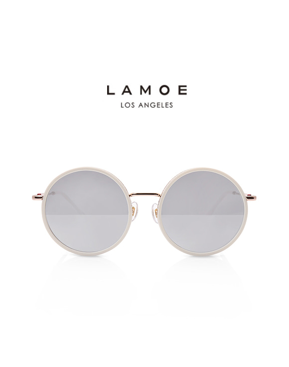 [LAMOE]Y-5 SOL_LA-COL3  WHITE/ROSE GOLD METAL