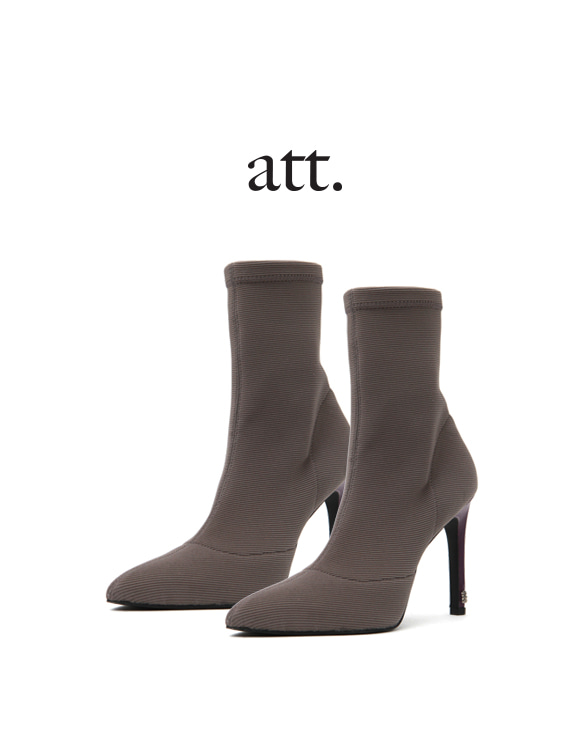 [ATT] U-2 RIBBED SOCKS ANKLE BOOT
