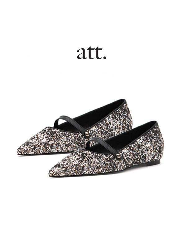 [ATT] U-6 SPANGLE MARYJANE FLAT