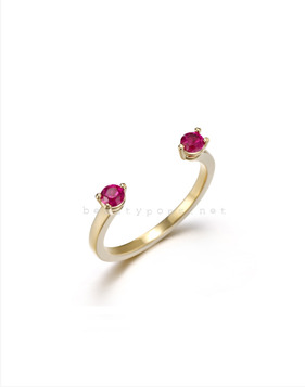 [Bitter Sweet]Z-18 Pink cubic ring