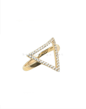 [Bitter Sweet]Z-28 Pave Triangle ring