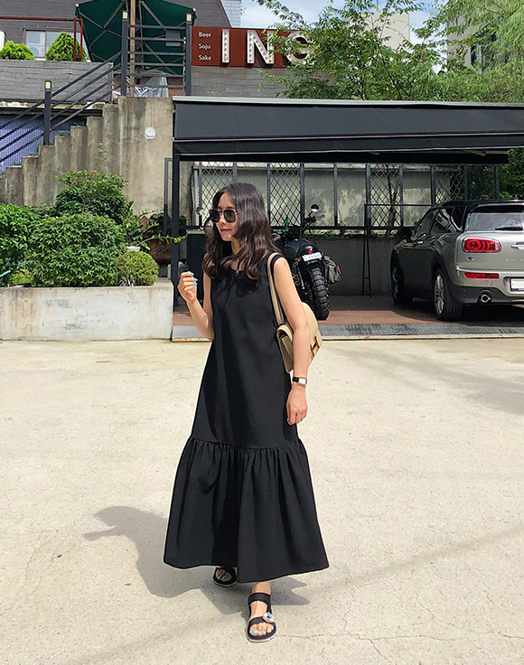 [ShortButStunning]sleeveless maxi dress 공구