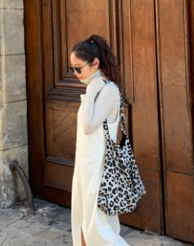 [COMME.R] LEOPARD HOBO ECO BAG