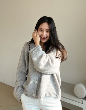 [Shortbutstunning] Grey volume cardigan